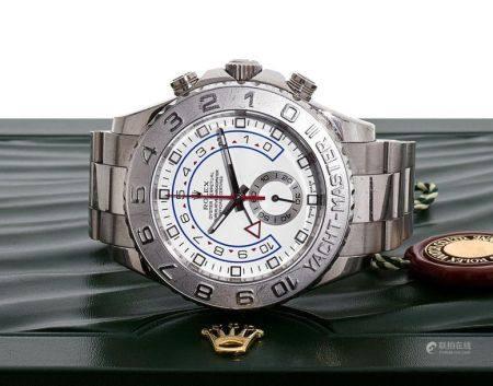 ROLEX  Yacht Master II, ref. 116689, n° V004936 Vers 2011  Montre bracelet en or blanc 18K (750