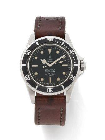 TUDOR  Submariner, ref. 7016/0, n° 621871 Vers 1968  Montre bracelet de plongée en acier  Boîti