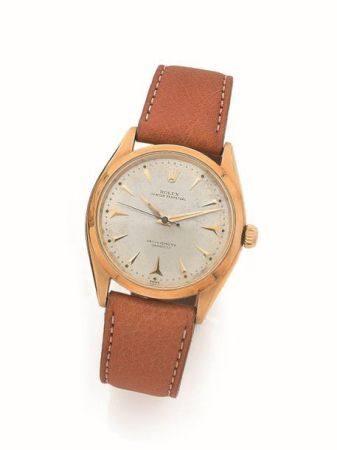 ROLEX  Ref. 6564, n° 412744 Vers 1959  Montre bracelet en or jaune 18k (750) fabriqué pour le m