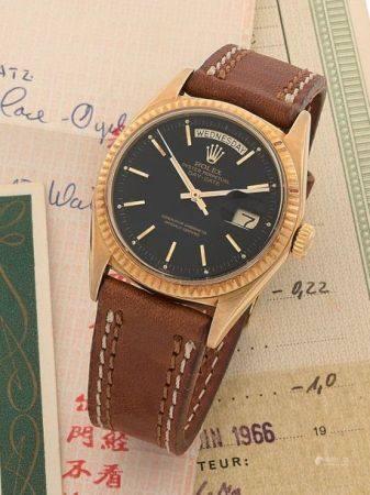 ROLEX  Day Date, ref. 1803, n° 1376175 Vers 1967  Montre bracelet en or jaune 18k (750) Boîtier