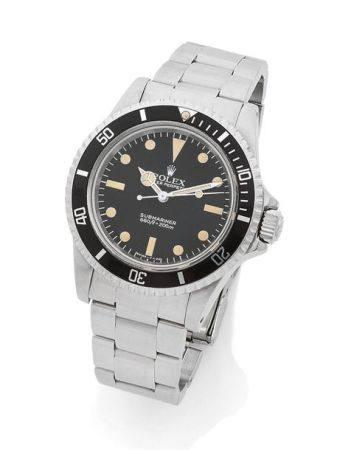 ROLEX  Submariner, ref. 5513 / 5512, n° 7588266 Vers 1982  Montre bracelet en plongée en acier