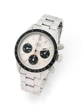 ROLEX  Daytona, ref. 6263, n° 5582881 Vers 1978  Chronographe bracelet en acier Boîtier : rond,