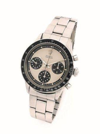 "ROLEX  Daytona ""Paul Newman"", ref. 6264/ 6241, n° 2425760 Vers 1970  Chronographe bracelet en a"