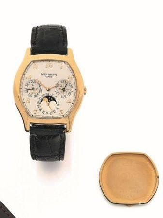 PATEK PHILIPPE  Ref. 5040J, n° 3124132 / 2981702 Vers 1990  Montre bracelet en or jaune 18k (75