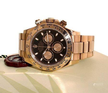 "ROLEX  Daytona ""Pink on Pink"", ref. 116505, n° M891394 Vers 2005  Chronographe bracelet en or r"