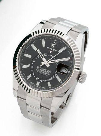 ROLEX  Sky Dweller, ref. 326934, n° T9A33141 Vers 2020  Montre bracelet en acier avec second fu
