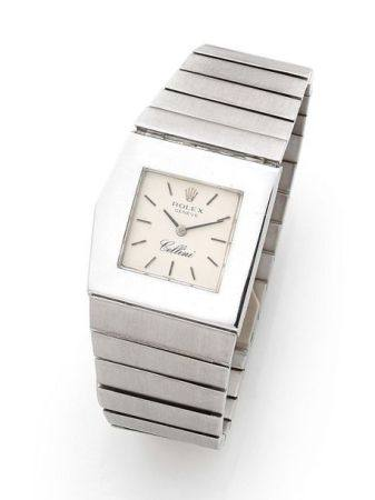 ROLEX  Cellini, ref. 4017/8, n° 3636329 Vers 1973  Montre bracelet en or blanc 18k (750) Boîtie