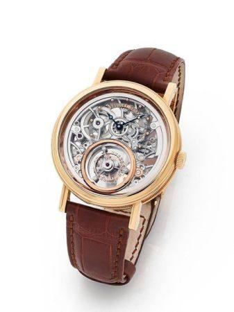 BREGUET  Tourbillon, Ref. 5335, n° 3252BB Vers 2020  Montre bracelet squelette en or rose 18k (