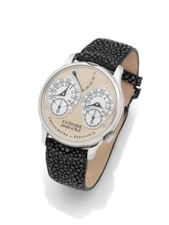F.P. JOURNE  Chronomètre à Résonnance, N° 338-03R Vers 2003  Montre bracelet chronomètre en pla
