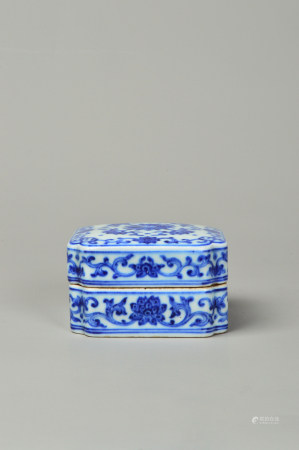 Blue and White Twined Lotus Study Box 青花缠枝莲文房盒