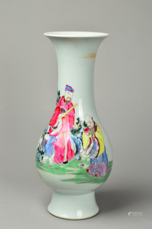The Olive Bottle Powder Enamel Character Story 粉彩人物故事橄榄瓶