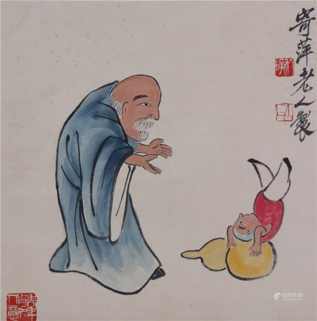 Chinese Calligraphy and Painting of Printed Characters 中国书画 纸本人物