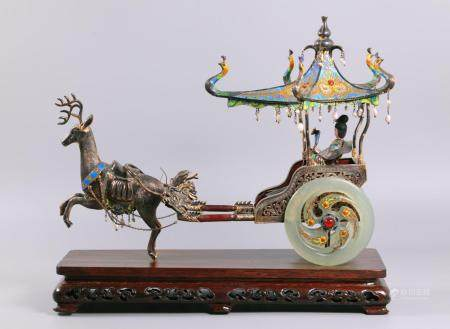 Chinese silver carriage