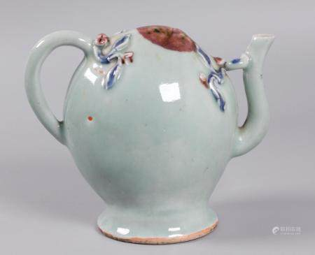 Chinese porcelain teapot, possibly 19th c.