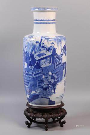 Chinese blue & white porcelain vase, possibly 18th/19th c.