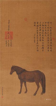 郎世宁《马》