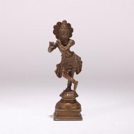 明代 铜十六天女之一造像