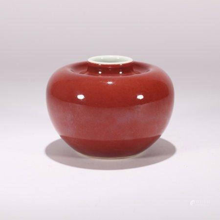 清代 祭红釉苹果尊