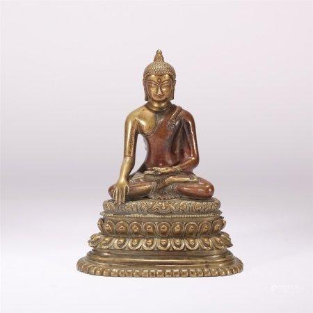 明代 铜鎏金释迦牟尼造像