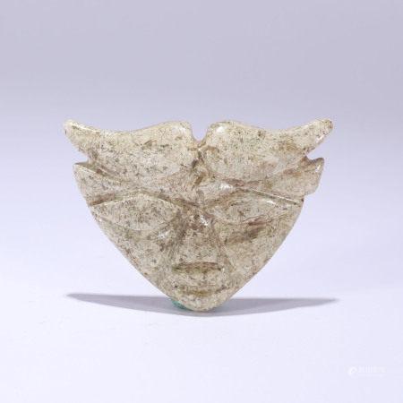 汉代 人面形玉