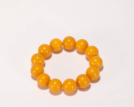 Beewax Bracelet from Qing 清代老蜜蠟手串