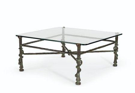 Diego Giacometti (1902-1985)  Table aux torsades-modèle carré