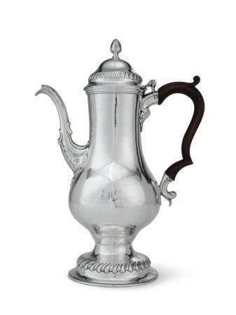 An American Silver Coffee Pot, John David, Philadelphia, circa 1770