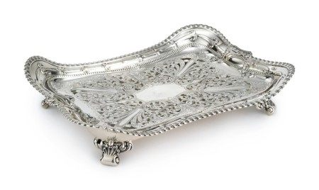 Paris Exposition of 1900 and Buffalo Exposition of 1901: An American Silver Asparagus Dish and Liner, Tiffany & Co., New York, the design attributed to Paulding Farnham, circa 1900
