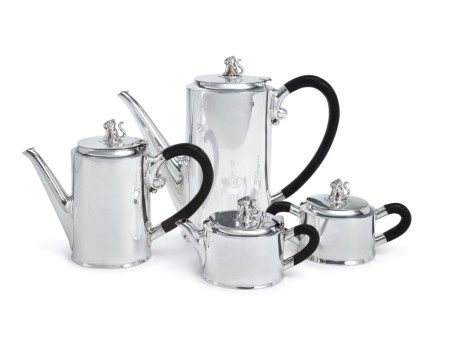 """A Mexican Silver """"Jaguar"""" Tea and Coffee Set, William Spratling, Taxco, Mid 20th Century"""