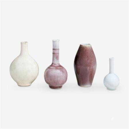 Four small Chinese vases, 18th Century and later