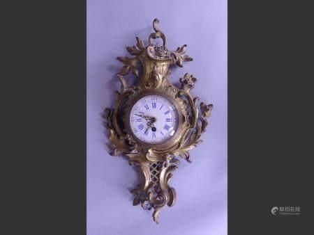 Watchmaking Louis XV style NAPIII bronze wall cartel