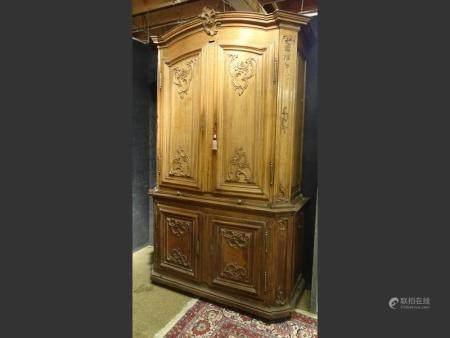 furniture Silver cupboard 2 pieces from Namur in oak 18thC