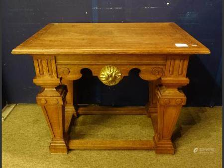 furniture  Console Neo-Renaissance in oak carved