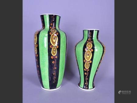 Ceramic (2) Vase D787 Atelier CATTEAU Charles circa 1923