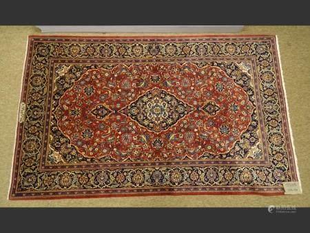 Carpet CACHAN signed AKHAVAN POURBABAI workshop hand-knotted oriental