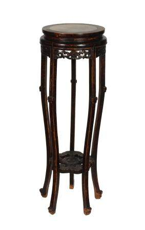 CHINESE 19TH CENTURY STAND WITH MARBLE INSERT