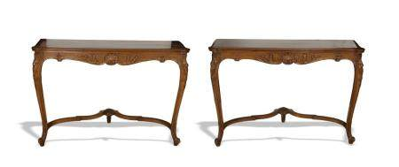 PAIR OF CARVED FRENCH PIER TABLES