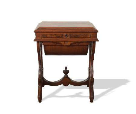 AMERICAN WALNUT AESTHETIC MOVEMENT SEWING STAND