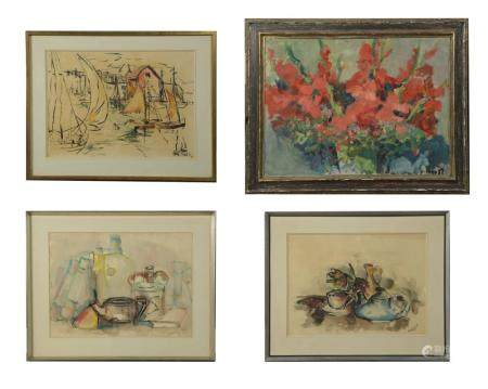 4 PAINTINGS BY RONALD C. HORST (AM, 1938-2015)
