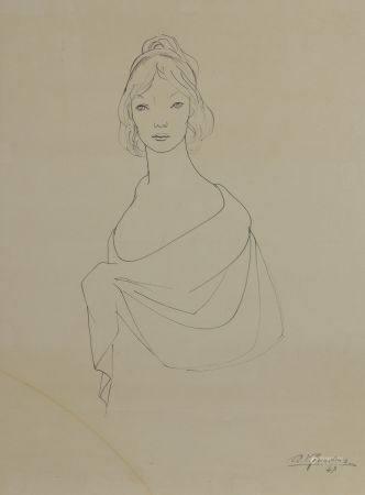Alejo VIDAL-QUADRAS (1919-1994). Deux études pour portraits de femmes. Encres sur papier, signé