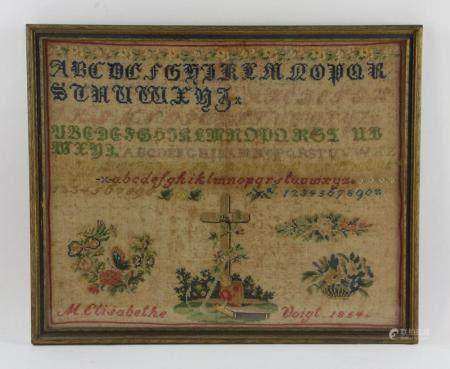 Sampler Dated 1854