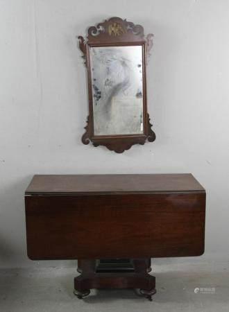 Empire Mahogany Drop Leaf Table and Mirror