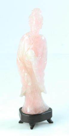 Chinese Carved Quartz Lady Figure
