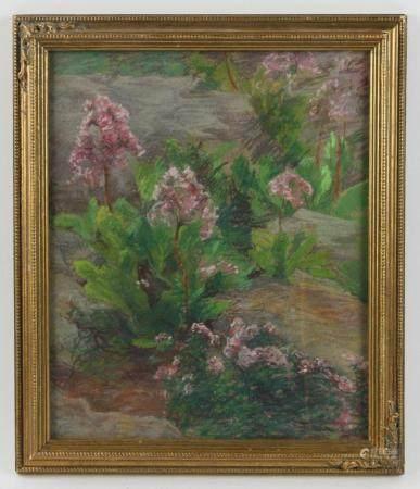 Anna C Tomlinson, Floral Landscape, Pastel