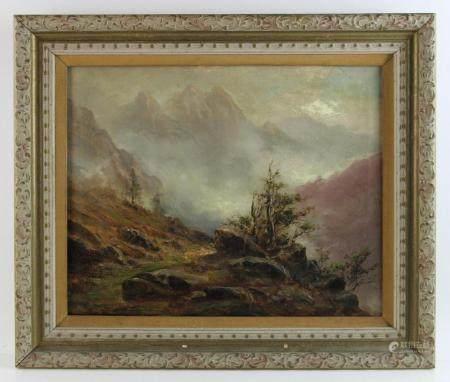 C H Harman, Landscape, Oil on Canvas