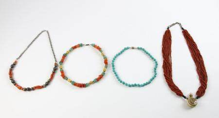 Group of Four Necklaces