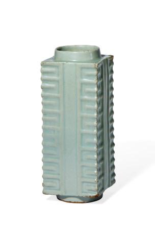 明 龙泉窑青釉琮式瓶