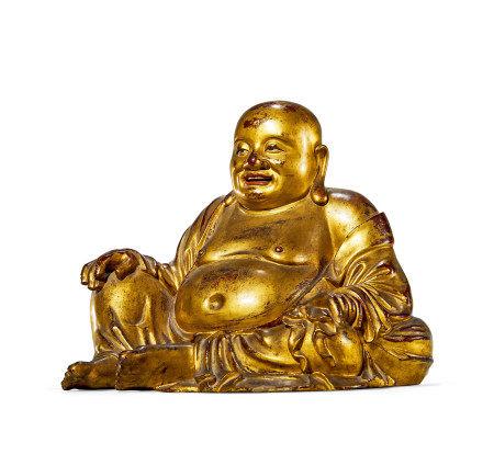 明 夹贮漆金弥勒佛坐像