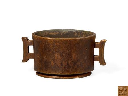 清 铜 戟耳炉