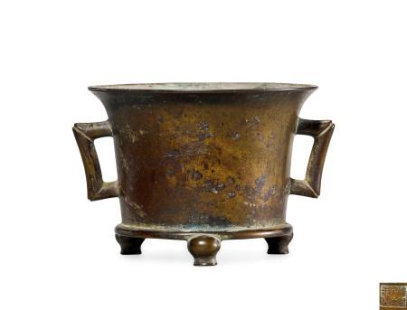清 早期 铜 法盏炉